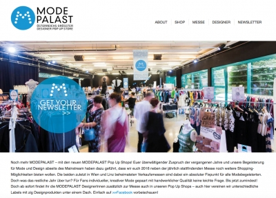 MODEPALAST | Website Texte